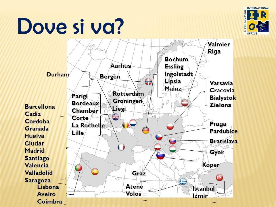 Dove si va? Bergen Graz ParigiBordeauxChamberCorte La Rochelle Lille BarcellonaCadizCordobaGranadaHuelvaCiudarMadridSantiagoValenciaValladolidSaragoza