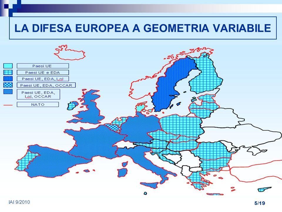 5/19 LA DIFESA EUROPEA A GEOMETRIA VARIABILE IAI 9/2010