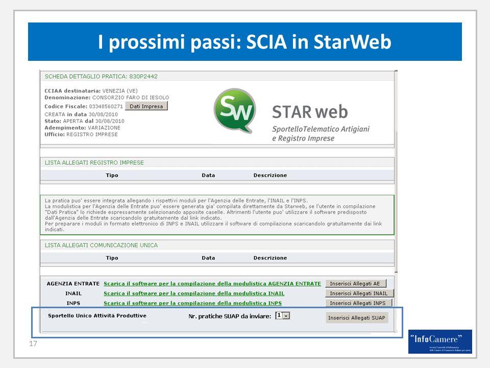 17 I prossimi passi: SCIA in StarWeb