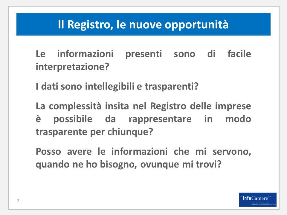 Il Registro, le nuove opportunità Le informazioni presenti sono di facile interpretazione.