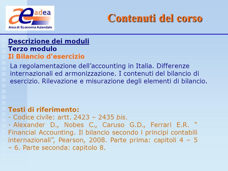 Presentazione di ADEA Le materie Ragioneria generale Economia delle aziende e delle ammin.