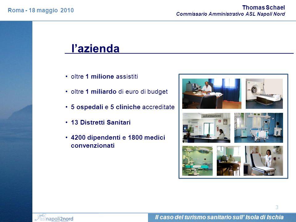 lazienda 3 Thomas Schael Commissario Amministrativo ASL Napoli Nord Il caso del turismo sanitario sull Isola di Ischia Roma - 18 maggio 2010 oltre 1 m