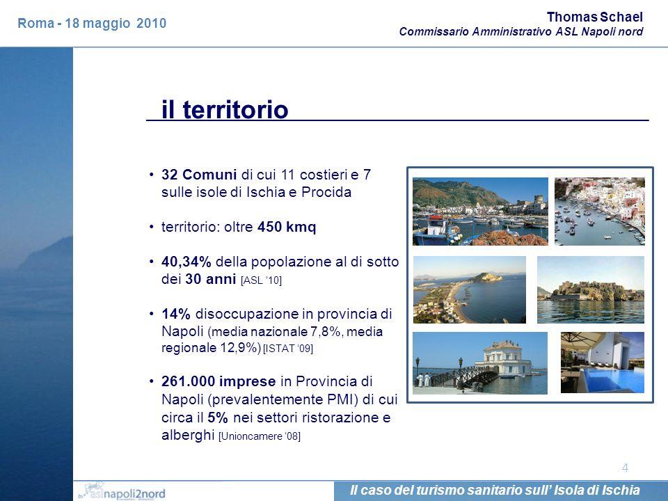 il territorio 4 32 Comuni di cui 11 costieri e 7 sulle isole di Ischia e Procida territorio: oltre 450 kmq 40,34% della popolazione al di sotto dei 30