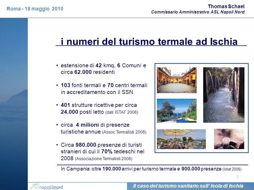 7 estensione di 42 kmq, 6 Comuni e circa 62.000 residenti 103 fonti termali e 70 centri termali in accreditamento con il SSN 401 strutture ricettive p
