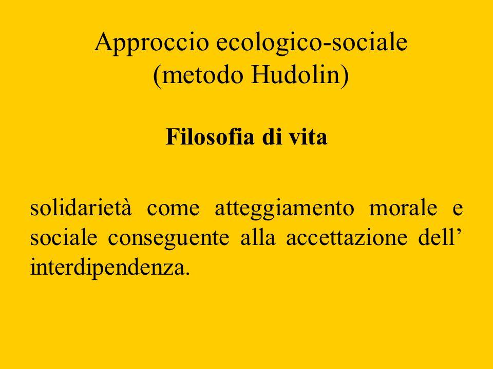 Approccio ecologico-sociale (metodo Hudolin) Filosofia di vita solidarietà come atteggiamento morale e sociale conseguente alla accettazione dell inte