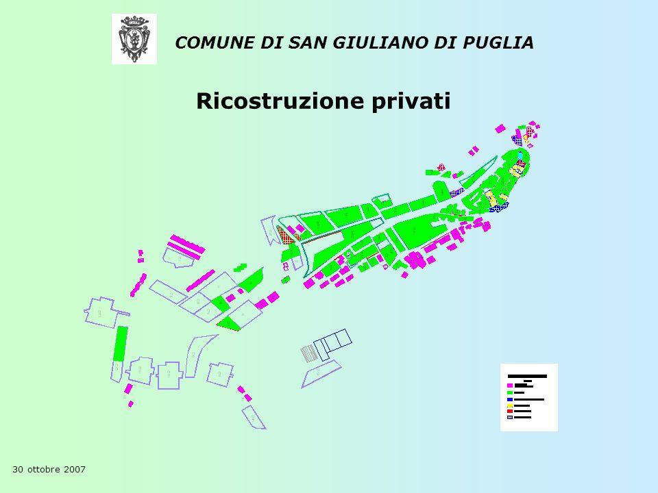 COMUNE DI SAN GIULIANO DI PUGLIA 30 ottobre 2007 Ricostruzione privati