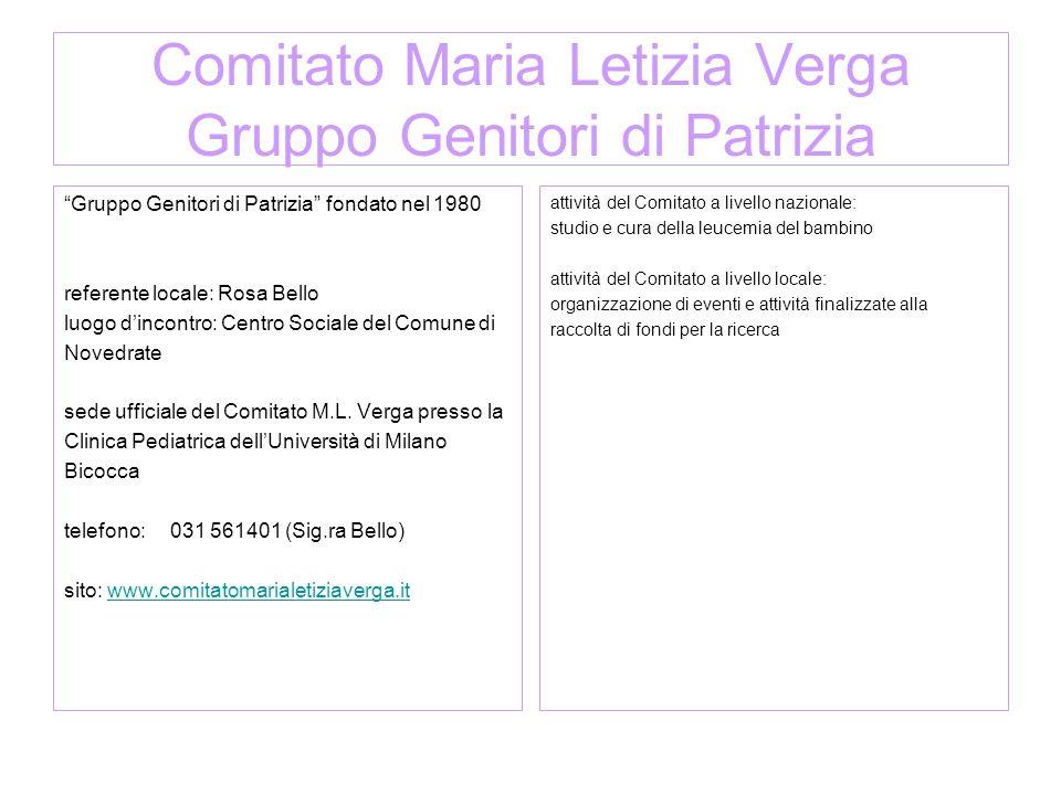 Associazione Teresa onlus Fondata nel 2004 Presidente:Walter Alberti sede ufficiale: via Sirtori n.