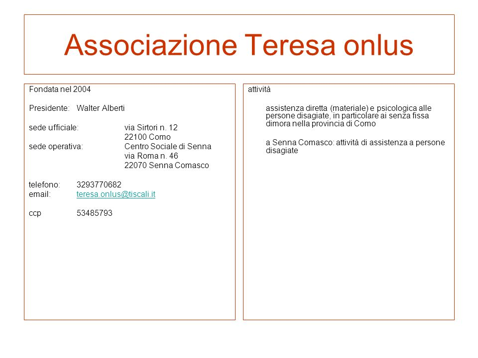 GINNICA 96 fondata nel 1995 Presidente: Filippo Siracusano referente: Antonella Larotonda sede: via Prestino n.