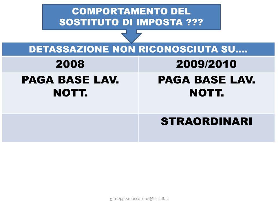 giuseppe.maccarone@tiscali.it RISOLUZIONE 83/2010 CONFERMENOVITADUBBI SI:IND.