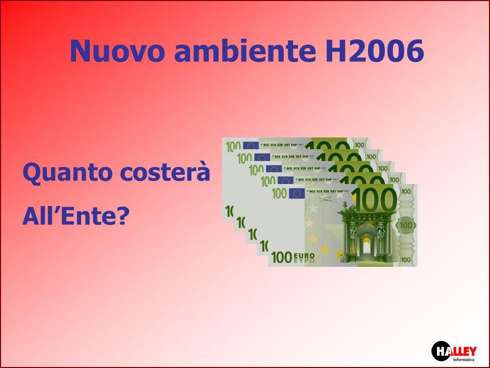 Nuovo ambiente H2006 Quanto costerà AllEnte?