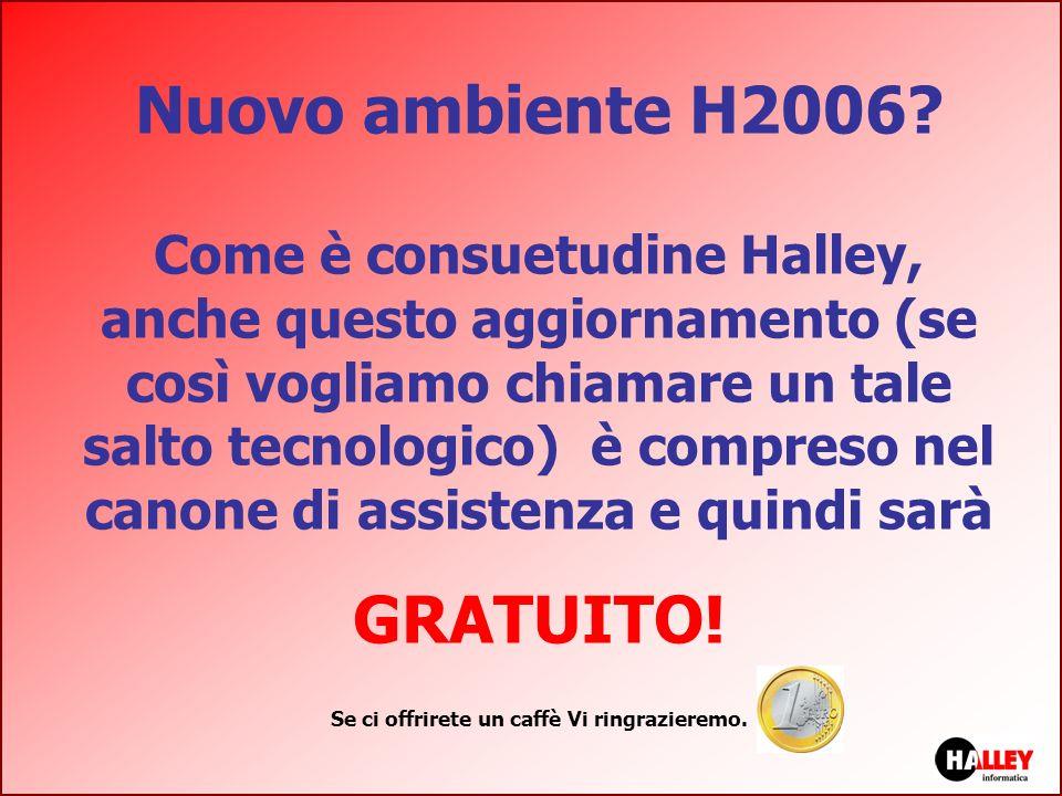Nuovo ambiente H2006? Come è consuetudine Halley, anche questo aggiornamento (se così vogliamo chiamare un tale salto tecnologico) è compreso nel cano