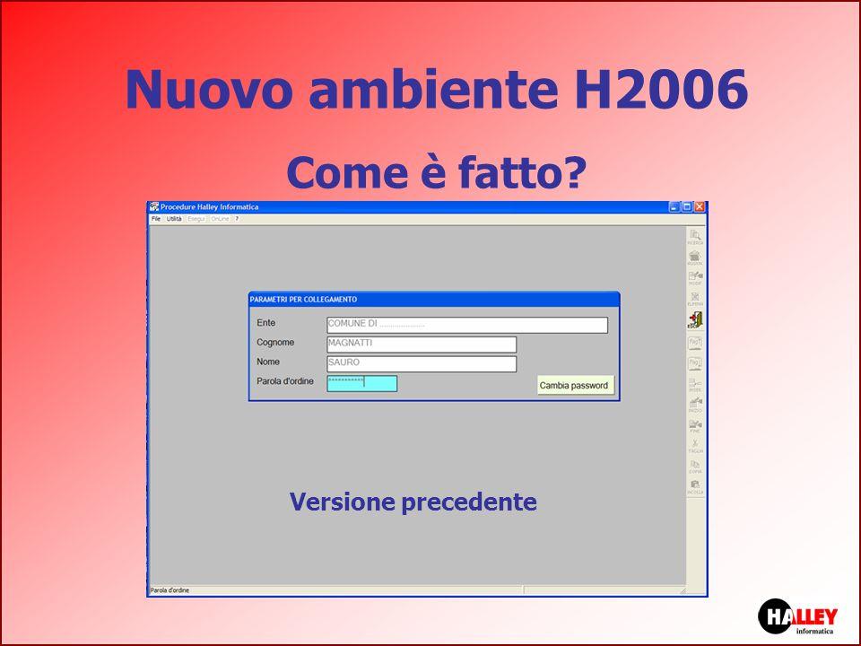 Nuovo ambiente H2006 Come è fatto? Versione precedente