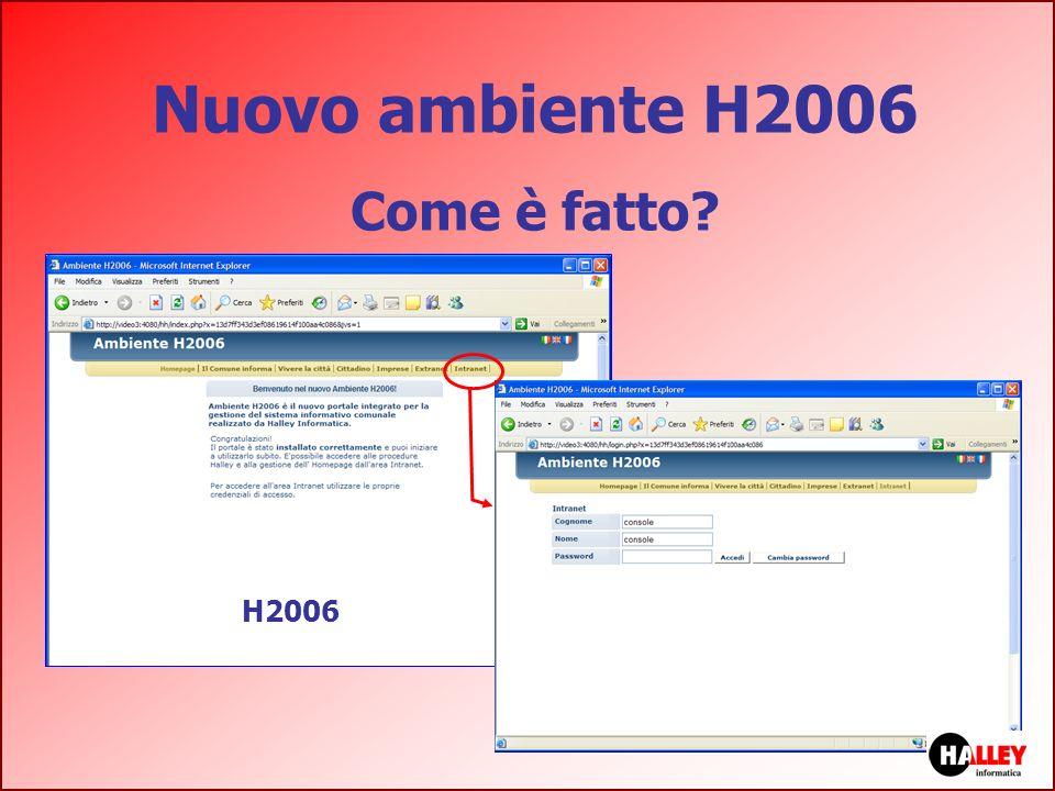 Nuovo ambiente H2006 Come è fatto? H2006
