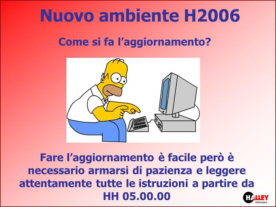 Nuovo ambiente H2006 Come si fa laggiornamento? Fare laggiornamento è facile però è necessario armarsi di pazienza e leggere attentamente tutte le ist