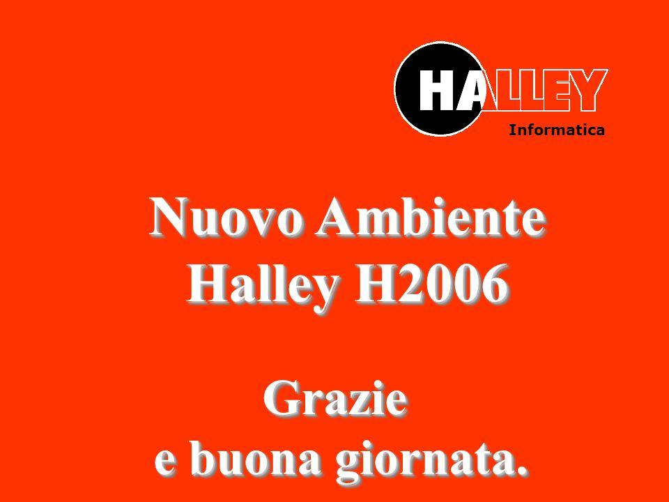 Informatica Nuovo Ambiente Halley H2006 Nuovo Ambiente Halley H2006 Grazie e buona giornata. e buona giornata.Grazie