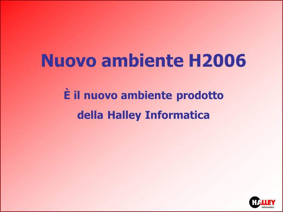 Nuovo ambiente H2006 È il nuovo ambiente prodotto della Halley Informatica