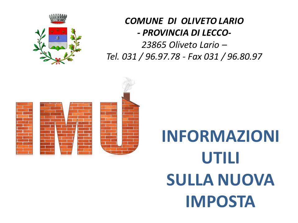 COMUNE DI OLIVETO LARIO - PROVINCIA DI LECCO- 23865 Oliveto Lario – Tel.