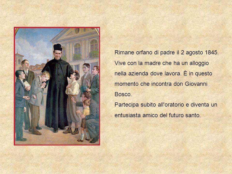 Don Bosco gli disse: Ho bisogno di aiuto.Ti farò indossare la veste dei chierici, sei daccordo?.