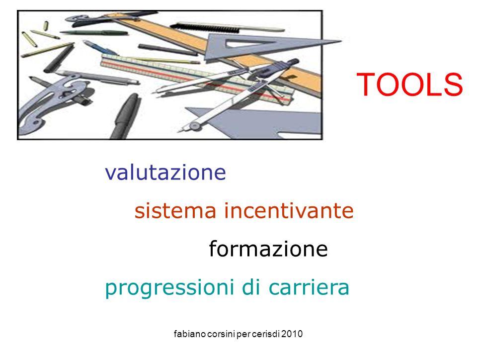 fabiano corsini per cerisdi 2010 tools valutazione sistema incentivante formazione progressioni di carriera TOOLS