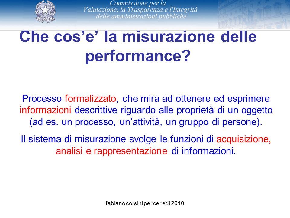fabiano corsini per cerisdi 2010 Che cose la misurazione delle performance.