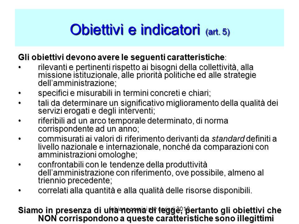 fabiano corsini per cerisdi 2010 Obiettivi e indicatori (art.