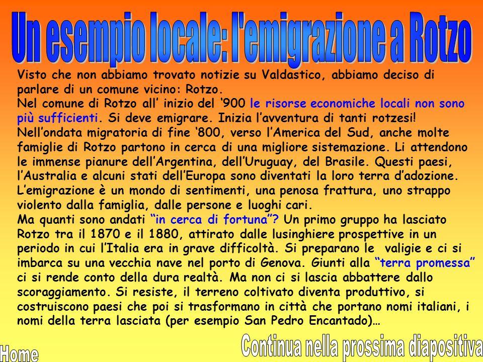 In Italia il grande esodo comincia nel 1875; le cause sono le stesse che in tutta Europa. In Italia lemigrazione assume però una caratteristica precis