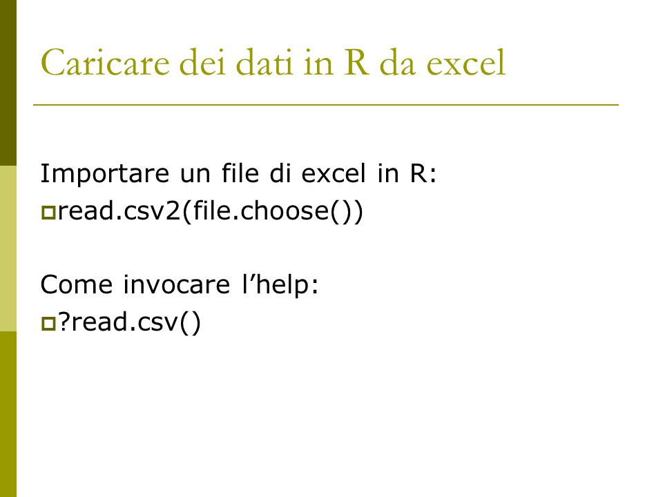 Prime analisi descrittive Come descrivere le variabili: des() Prime analisi descrittive: summ(), summary(dataset)