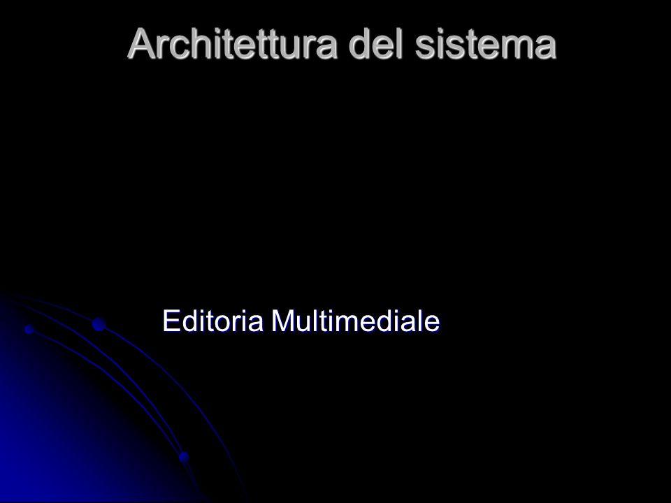 Architettura del sistema Editoria Multimediale