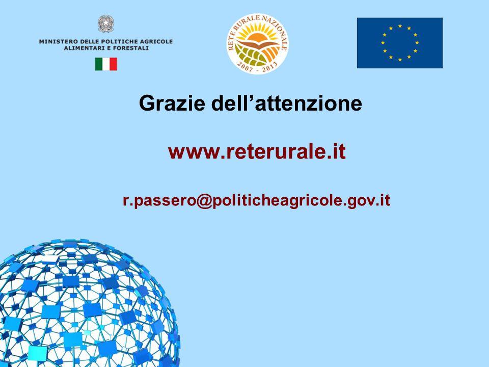 26 www.reterurale.it r.passero@politicheagricole.gov.it Grazie dellattenzione