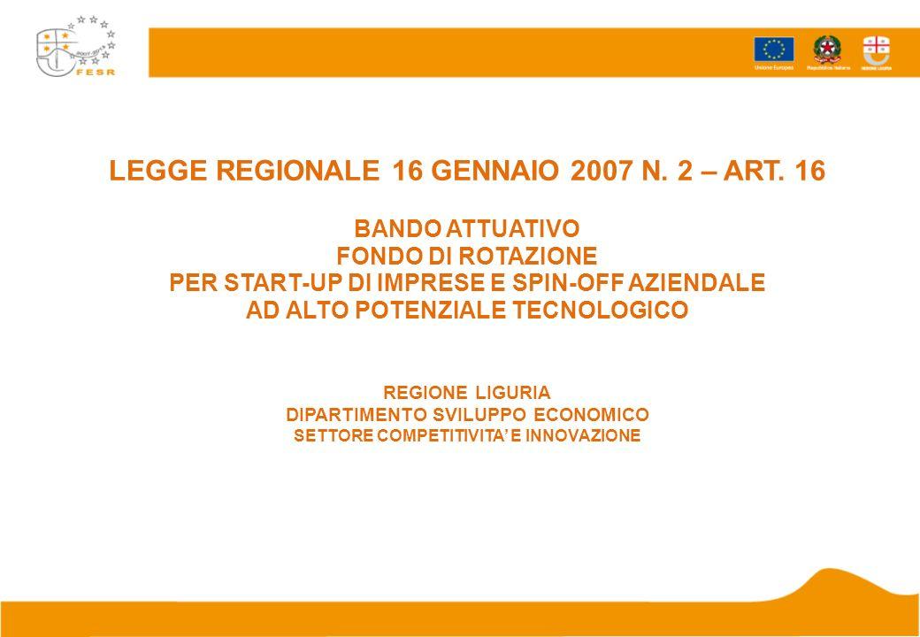 LEGGE REGIONALE 16 GENNAIO 2007 N. 2 – ART.