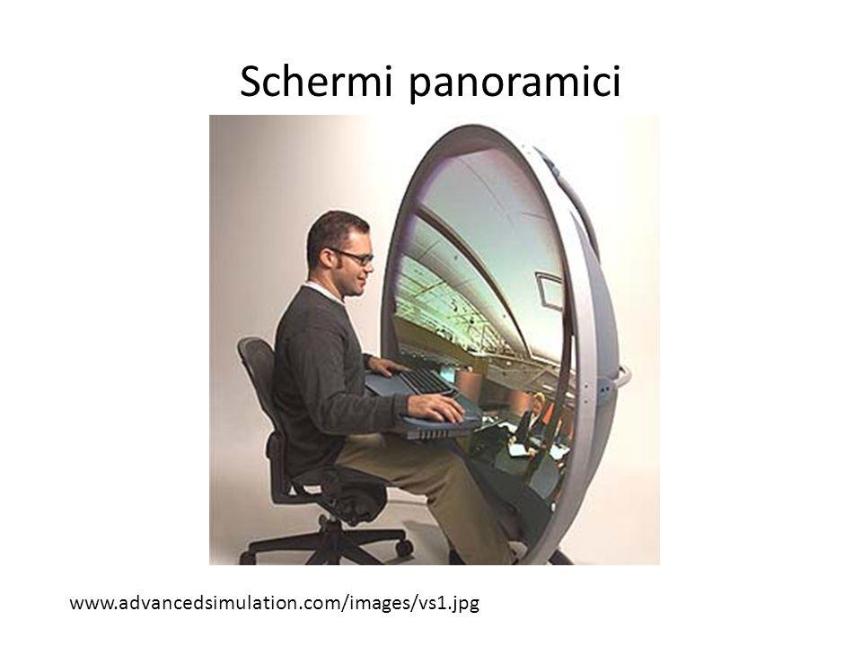 Visualizzazione 3D Quando osserviamo una scena 3D su uno schermo tradizionale (o su una fotografia), siamo comunque consapevoli che si tratta di una immagine piatta (questa è una immagine di computer grafica)