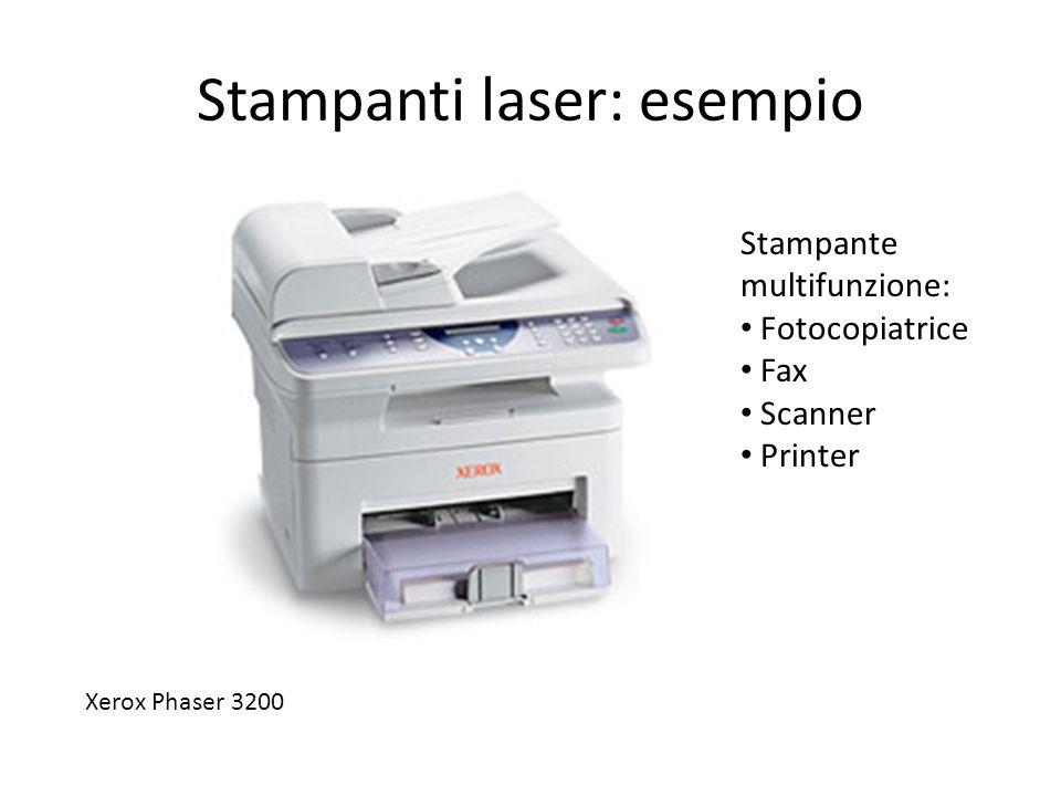 Stampanti laser: esempio Xerox Phaser 3200 Stampante multifunzione: Fotocopiatrice Fax Scanner Printer