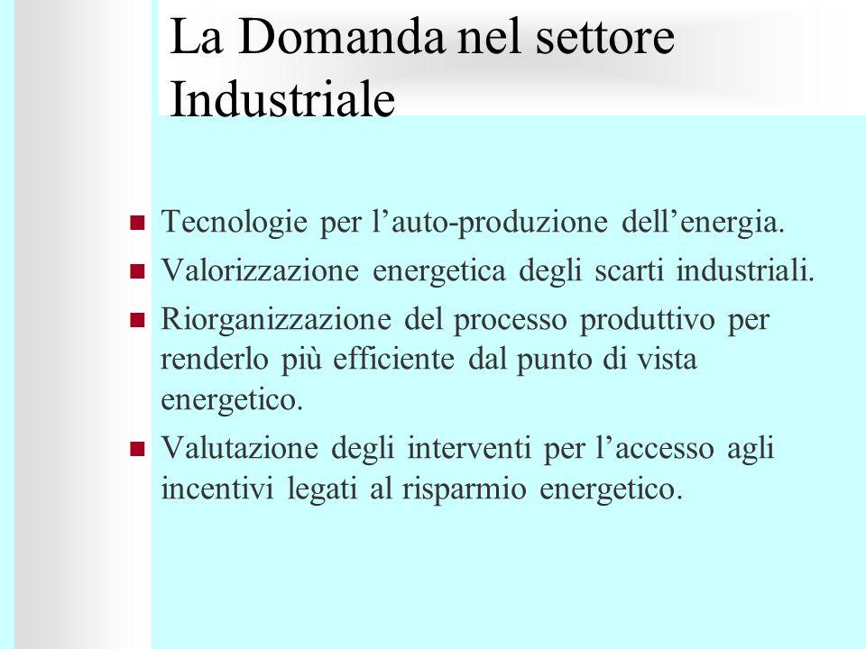 Tecnologie per lauto-produzione dellenergia. Valorizzazione energetica degli scarti industriali. Riorganizzazione del processo produttivo per renderlo