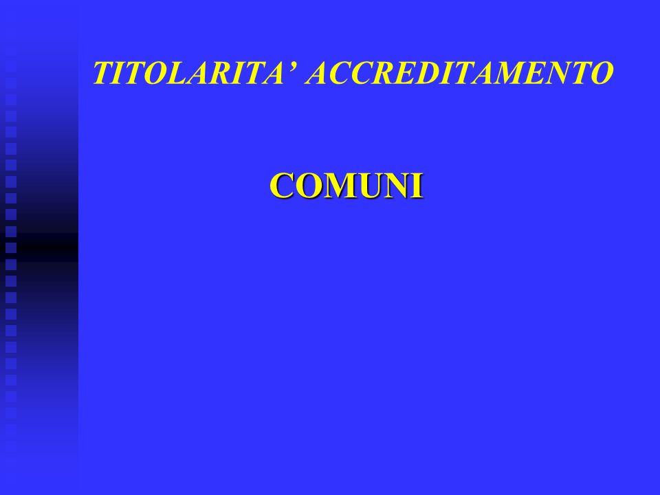 TITOLARITA ACCREDITAMENTO COMUNI