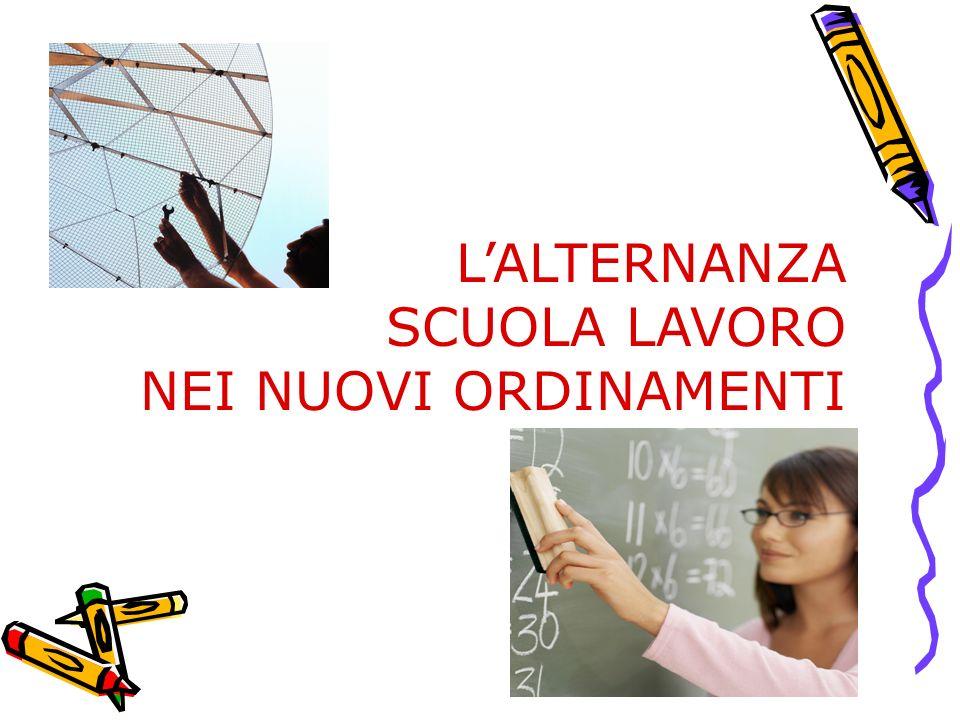 LALTERNANZA SCUOLA LAVORO NEI NUOVI ORDINAMENTI