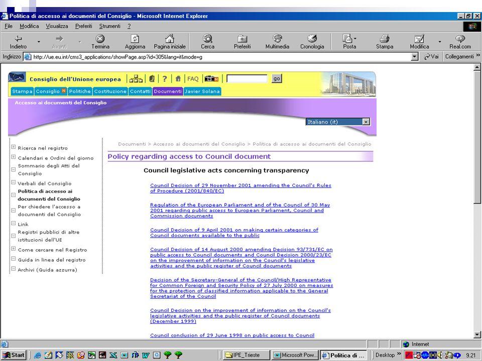 Daniela Lanzotti - Trieste 5/4/2005 Servizi on-line