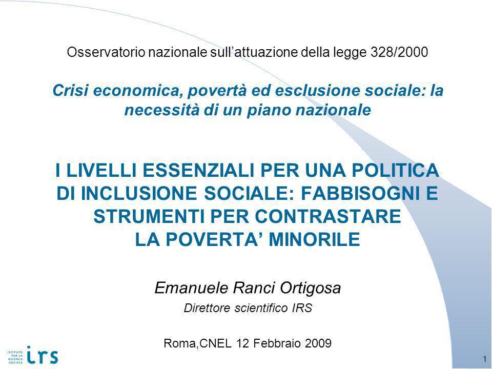 Abbiamo detto che la povertà è fenomeno a più dimensioni, oltre a quella economica, e con più fattori causali.