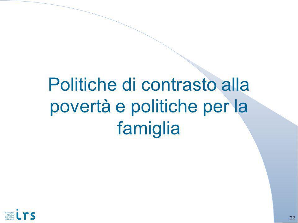 Politiche di contrasto alla povertà e politiche per la famiglia 22