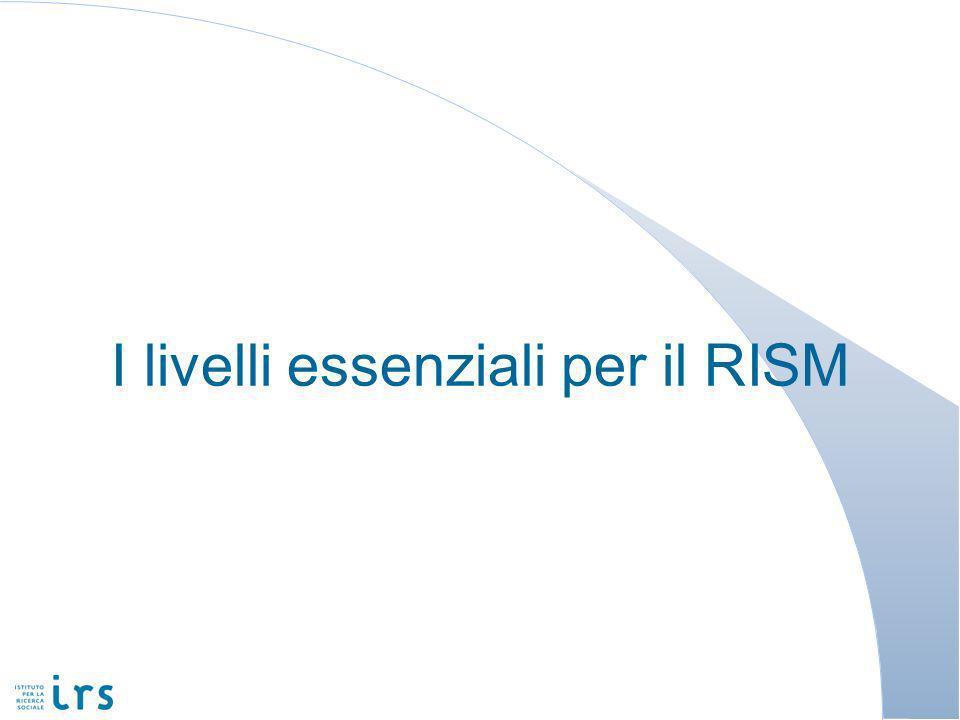 I livelli essenziali per il RISM