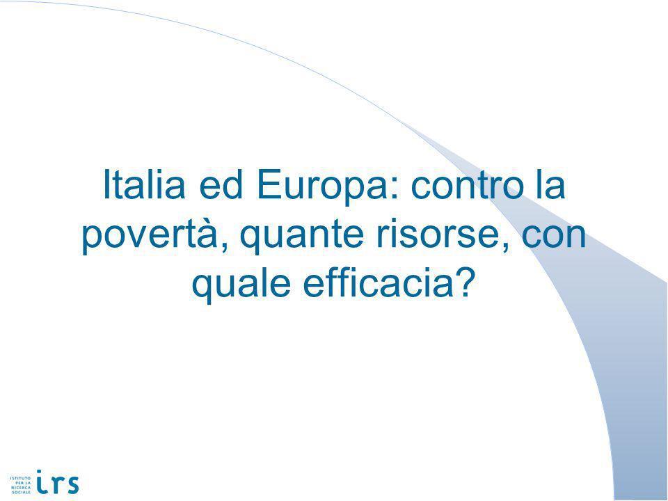 Italia ed Europa: contro la povertà, quante risorse, con quale efficacia