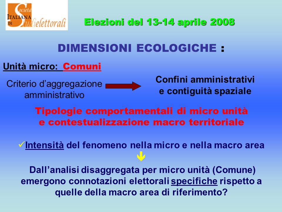 14 Focus su Sicilia 2008: Politiche e regionali Politiche Regionali