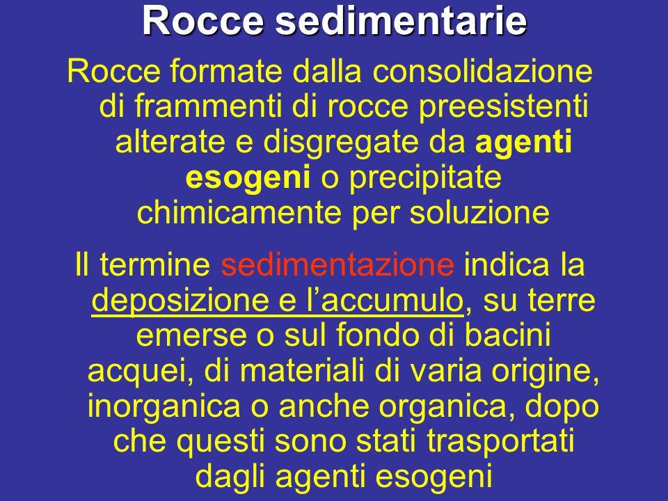 Maturità e stratificazione delle rocce sedimentarie