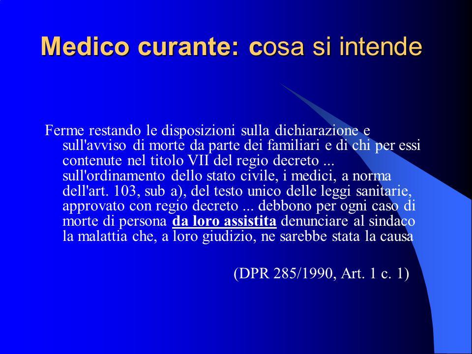 Assistenza medica Ai sensi della Circolare Min.San.