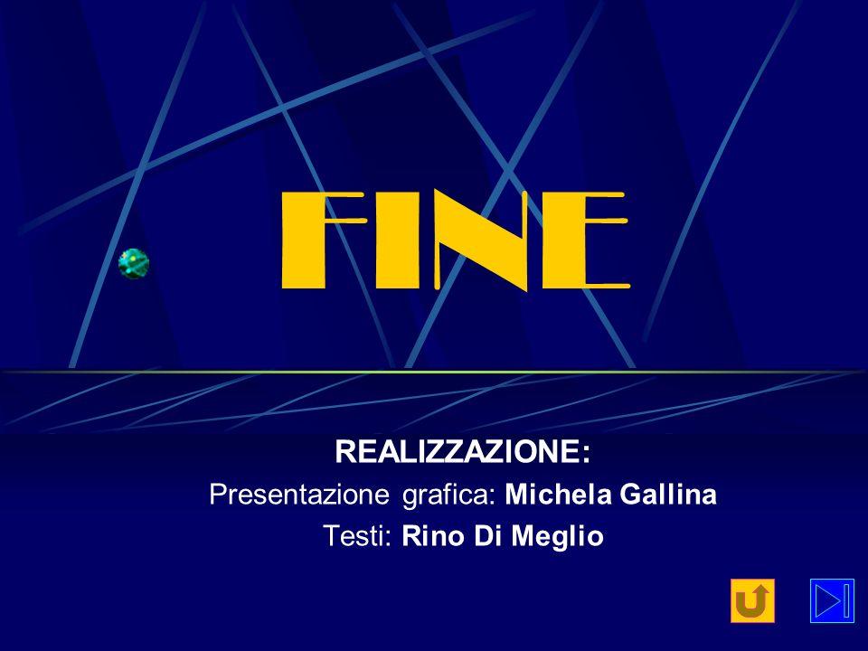 FINE REALIZZAZIONE: Presentazione grafica: Michela Gallina Testi: Rino Di Meglio