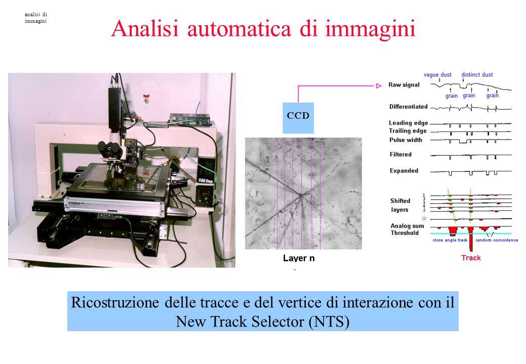 Ricostruzione delle tracce e del vertice di interazione con il New Track Selector (NTS) analisi di immagini Analisi automatica di immagini