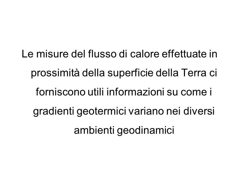Le misure del flusso di calore effettuate in prossimità della superficie della Terra ci forniscono utili informazioni su come i gradienti geotermici v