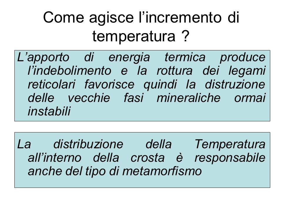 La Temperatura si incrementa con la profondità la velocità con la quale essa varia in funzione della profondità gradiente geotermico in media 1° C circa ogni 30 metri In aree continentali stabili