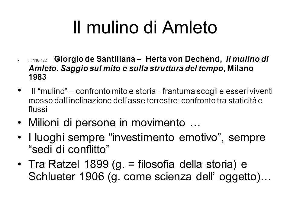 Il mulino di Amleto F. 118-122 Giorgio de Santillana – Herta von Dechend, Il mulino di Amleto. Saggio sul mito e sulla struttura del tempo, Milano 198