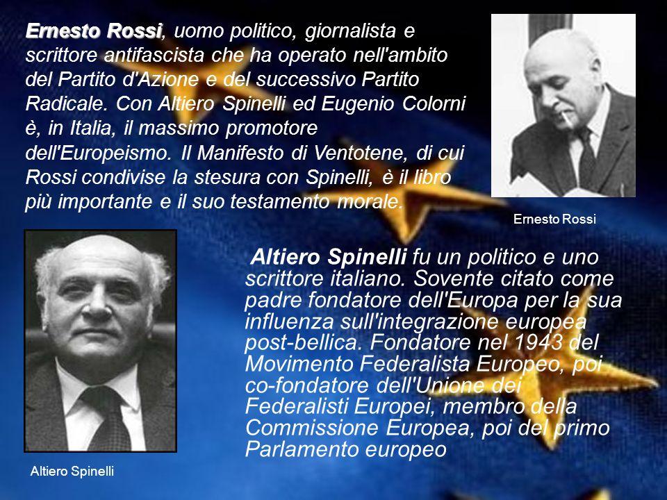 Altiero Spinelli fu un politico e uno scrittore italiano. Sovente citato come padre fondatore dell'Europa per la sua influenza sull'integrazione europ