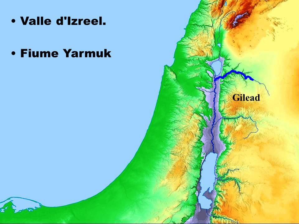 Valle d'Izreel. Fiume Yarmuk Gilead
